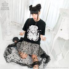 Lolita Tea Time Collaboration T-Shirt [BLACK] Fusedy [Harajuku Kawaii] HARAJUKU