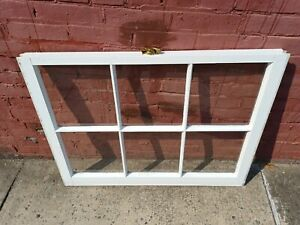 Vintage Window with latch 36x27 Ready For Remodel or Projects ITEM B4