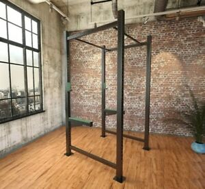 CrossFit Cage Kraftstation Workout Fitness station Power Rack Wallmount Squat