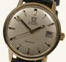 Vintage OMEGA Geneve Date Cal.565 Leather Belt Automatic Men's Watch_346937