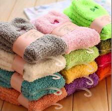 6Pairs Ladies Women Soft Fluffy Bed Socks Winter Warm Lounge Slipper Fleece Sock