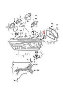 Genuine AUDI SKODA A3 Cabriolet gas discharge lamp control unit 8W0941235