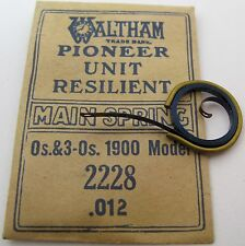 New old Waltham 0s & 3-0s 1900 model 2228 0.012 Us Mainspring 1 piece