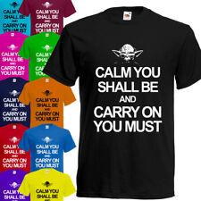 Keep Calm Yoda T-Shirt Boys Girls Mens Kids Children Unisex Tee Shirt Star Wars