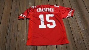 San Francisco 49ers Michael Crabtree Adult Size 50 SEWN jersey