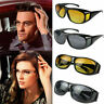 New HD Night Vision Unisex Driving Sunglasses Nice Over Wrap Around Glasses Ey