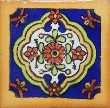 100 Tiles Ceramic Mexican Talavera Handmade Tile 2x2 Clay Mexico Pottery 2-08