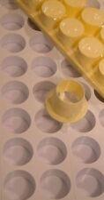 Dessertform für 32 Desserts, Minidesserts rund 4 cm Ø, Dessertformen Kunststoff