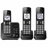 Panasonic KX-TG163K Cordless 3 Handset Landline Telephone w/ Answering Machine