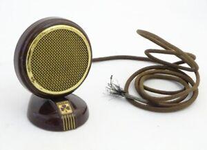 Original Vintage 1950's Grundig Bakelite Condensor Mircrophone