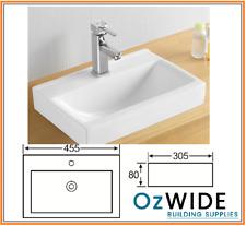 Ceramic Basin Above Counter Narrow Design Powder Room Bathroom Vanity 455 x 305