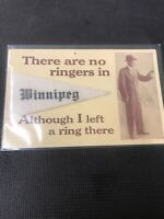 Vintage postcard Real Photo Winnipeg Pennant With Man Ring & Ringers I01
