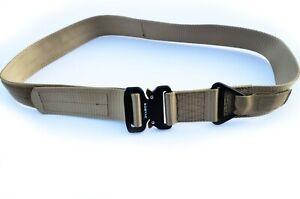 "Heavy Duty Tactical military buckle gun web belt law enforcement - KHAKI TAN 42"""