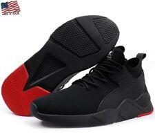 Men's Work Safety Shoes Steel Toe Bulletproof Boots Flyknit Sneakers USA