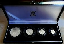 More details for 2003 royal mint britannia 4 coin proof set, 1.85 tr oz pure silver, box and cert
