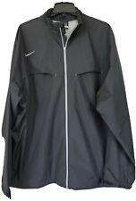 Nike Men's Size 2Xl, Black Dri-Fit Long Sleeve, Full Zip Wind Breaker, Nylon