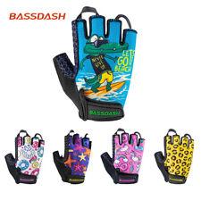 Bassdash Kids Bicycle Fishing Gloves Upf 50+ Sun Protection Mitts Fingerless New