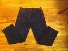 women's size 10P Ann Taylor Petites straight-leg cropped/capri jeans Dark Blue