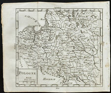 1803 - Carte ancienne : Pologne / mapa Polska