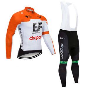 Thermal Fleece ef cycling jersey long sleeve Bib pants set Cycling Bib Pants
