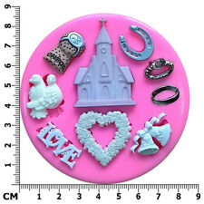 Wedding Themed Love Champagne Cork Engagement Silicone Mould by Fairie Blessings