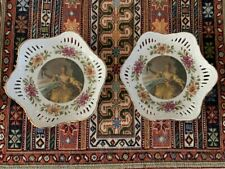 Antique Hand Painted Imperial kuznetsov Porcelain Small Plates from 1890-1917