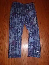 Nwt Zobha Print Shape Capris Atlantic Blue Active Yoga Capri Xs X-Small