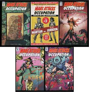 Mars Attacks Occupation Comic Set 1-2-3-4-5 Lot IDW Alien Martian Invasion UFO