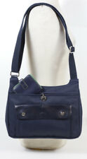 LONGCHAMP NAVY BLUE NYLON HANDBAG Should Cross-Body Bag + LODIS WALLET