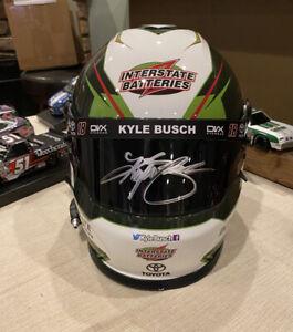Signed Kyle Busch CLASSIC Interstate Battery Replica Full Size Helmet COA