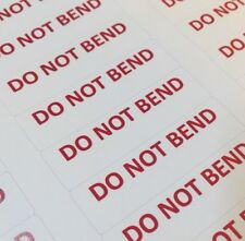DO NOT BEND Stickers Mailing Shipping Package Envelope Labels