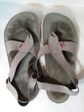 Lizard Trilogy Stone Button Leather Strap Thong Sandals Mens 9-9.5