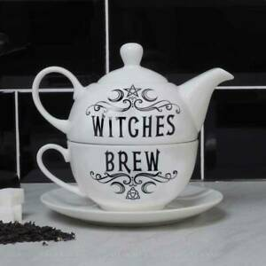 Alchemy Gothic Witches Brew - Tea For One Teapot Gift Set - Gothic,Goth