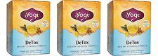 3 x 16 Bags YOGI TEA Detox Herbal Tea Bags (Total 48)
