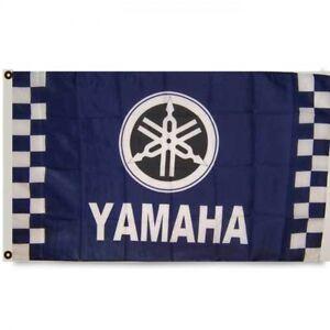 CHECKERED YAMAHA SPORTS CAR FLAG new 3x5ft superior quality USA seller