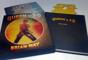 BRIAN MAY+SIGNED+QUEEN IN 3D+BOOK=100% AUTHENTIC+EXPRESS GLOBAL SHIP