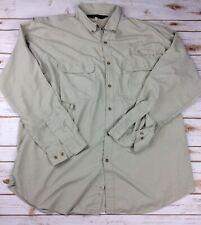 Redington Size XL Fishing Shirt  Button Front Long Sleeve Vented UPF 30 + Nylon