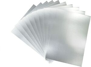 Pack of 10 Sheets A4 Silver Mirror Card