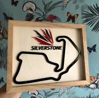 Silverstone Race Track Circuit Motorsport Racing Track Wall Art Framed Replica