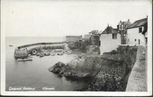 Coverack, Cornwall - Harbour - real photo postcard by Penpol c.1920s