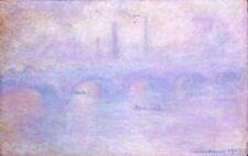 Claude Monet Waterloo Bridge Effect of Fog Fine Art Poster Print on Paper 17x28