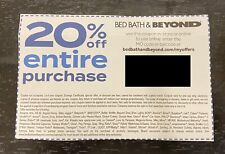 Bed Bath Beyond Coupon 20% Off Entire Purchase