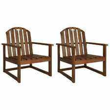 Vidaxl chaises de Jardin 2 pcs bois D'acacia Solide