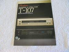 Accuphase T-107 Tuner Brochure