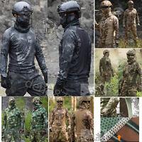 Outdoor Military Long Sleeve Tactical T-Shirt Resistant Combat Hunting Kryptek*+