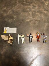 Vintage GI Joe figure lot Raptor, Snow Job, Torpedo, Charbroil incomplete sets