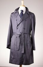 NWT $1095 EMPORIO ARMANI Lightweight Trench Coat 54/44 Charcoal Gray Italy