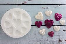 Silicone Mould Vintage Decorative Hearts Food Grade Ellam Sugarcraft M071