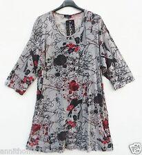 NEU SARAH SANTOS Tunika Shirt Tunic Tunique Tunica XL 48 50 Lagenlook *
