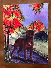 Chesapeake Bay Retriever Garden Flag (countryside)
